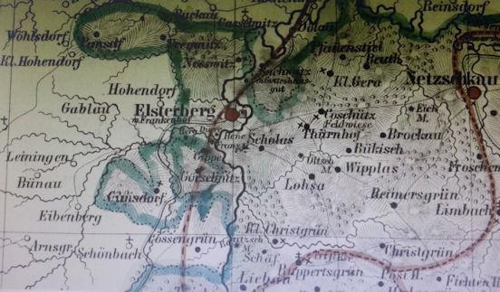 Karte Um Elsterberg