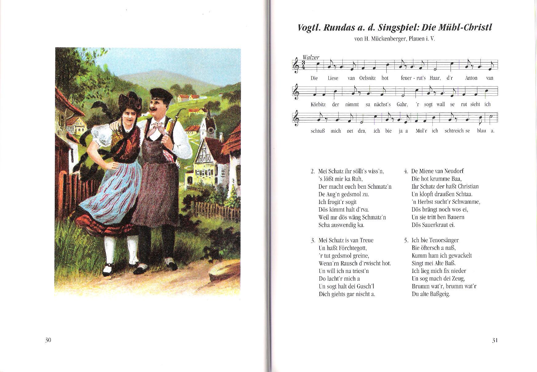Vogtl. Rundas a.d. Singspiel Die Mühl-Christl